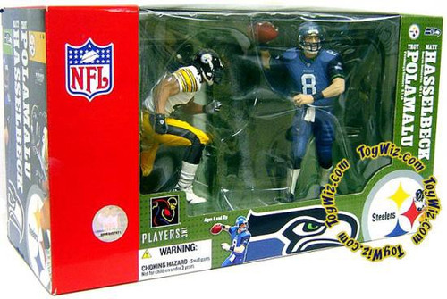 McFarlane Toys NFL Seattle Seahawks / Pittsburgh Steelers Sports Picks Matt Hasselbeck & Troy Polamalu Action Figure 2-Pack