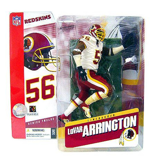 McFarlane Toys NFL Washington Redskins Sports Picks Series 12 Lavar Arrington Action Figure [White Jersey Variant]