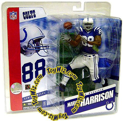 McFarlane Toys NFL Indianapolis Colts Sports Picks Series 12 Marvin Harrison Action Figure [Blue Jersey Variant]