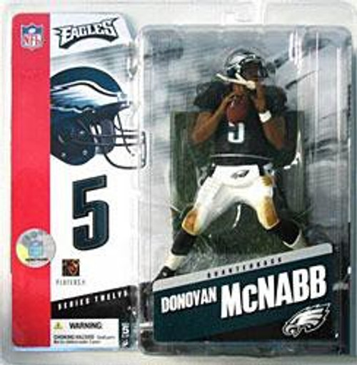 McFarlane Toys NFL Philadelphia Eagles Sports Picks Series 12 Donovan McNabb Action Figure [Black Jersey Variant]