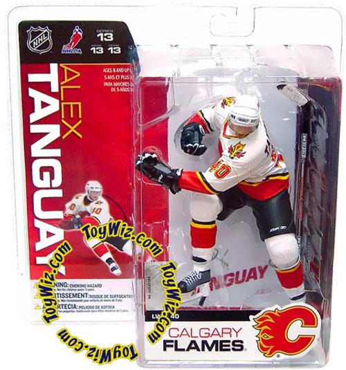 McFarlane Toys NHL Calgary Flames Sports Picks Series 13 Alex Tanguay Action Figure [White Jersey]