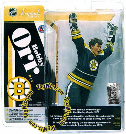 McFarlane Toys NHL Boston Bruins Sports Picks Legends Series 4 Bobby Orr Action Figure [Black Jersey]