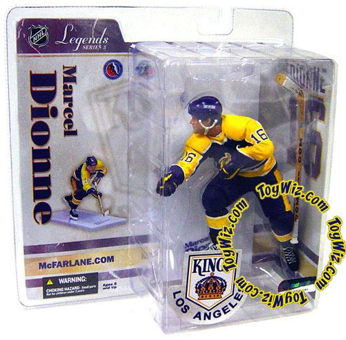 McFarlane Toys NHL Los Angeles Kings Sports Picks Legends Series 3 Marcel Dionne Action Figure [Purple Helmet]