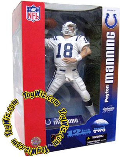 McFarlane Toys NFL Indianapolis Colts Sports Picks 12 Inch Deluxe Peyton Manning Exclusive Action Figure [White Jersey]