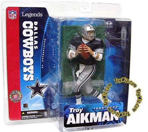 McFarlane Toys NFL Dallas Cowboys Sports Picks Legends Series 1 Troy Aikman Action Figure [Blue Jersey Variant]