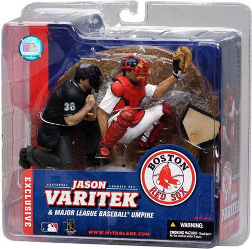 McFarlane Toys MLB Boston Red Sox Sports Picks Exclusive 2-Pack Jason Varitek & Homeplate Umpire Exclusive Action Figure 2-Pack