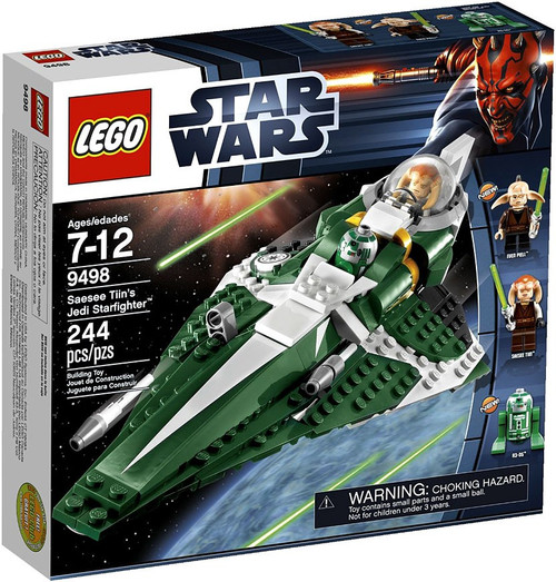 LEGO Star Wars The Clone Wars Saesee Tiin's Jedi Starfighter Set #9498