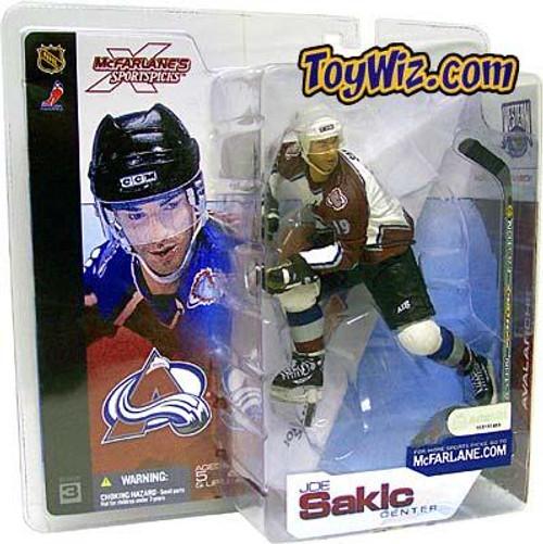McFarlane Toys NHL Colorado Avalanche Sports Picks Series 3 Joe Sakic Action Figure [White Jersey Burgundy Sleeves Variant]