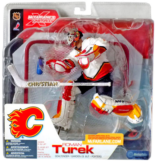 McFarlane Toys NHL Calgary Flames Sports Picks Series 3 Roman Turek Action Figure [White Jersey]