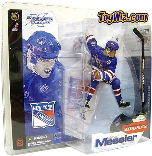 McFarlane Toys NHL New York Rangers Sports Picks Series 3 Mark Messier Action Figure [Blue Rangers Jersey]
