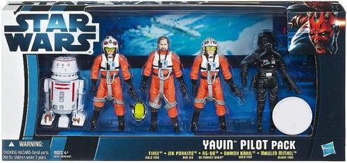 Star Wars Return of the Jedi Boxed Sets 2012 Yavin Pilots Exclusive Action Figure Set