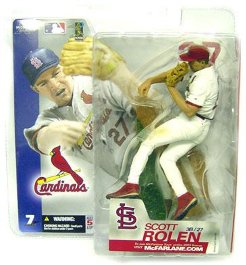 McFarlane Toys MLB St. Louis Cardinals Sports Picks Series 7 Scott Rolen Action Figure [White Jersey Variant]
