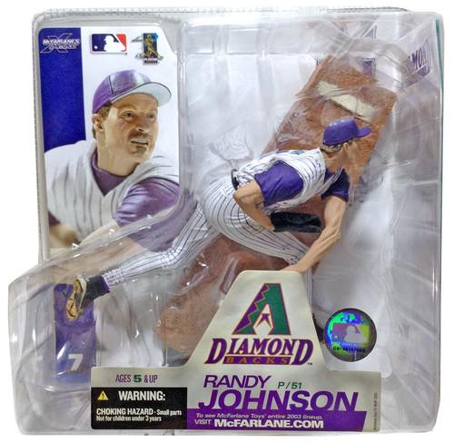 McFarlane Toys MLB Arizona Diamondbacks Sports Picks Series 7 Randy Johnson Action Figure [White Jersey]