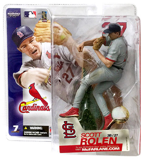 McFarlane Toys MLB St. Louis Cardinals Sports Picks Series 7 Scott Rolen Action Figure [Gray Jersey]