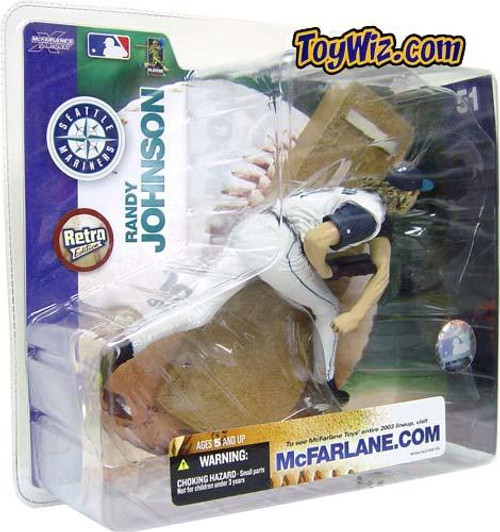 McFarlane Toys MLB Seattle Mariners Sports Picks Series 7 Randy Johnson Action Figure [White Jersey Variant]