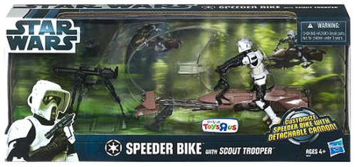 Star Wars Return of the Jedi Exclusives Speeder Bike with Scout Trooper Exclusive Action Figure Set