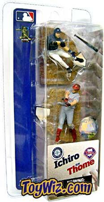 McFarlane Toys MLB Seattle Mariners / Philadelphia Phillies Sports Picks 3 Inch Mini Series 1 Ichiro Suzuki & Jim Thome Mini Figure 2-Pack
