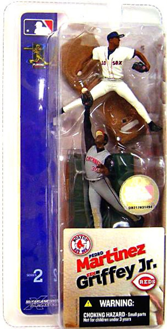 McFarlane Toys MLB Boston Red Sox / Cincinnati Reds Sports Picks 3 Inch Mini Series 2 Pedro Martinez & Ken Griffey Jr. Mini Figure 2-Pack