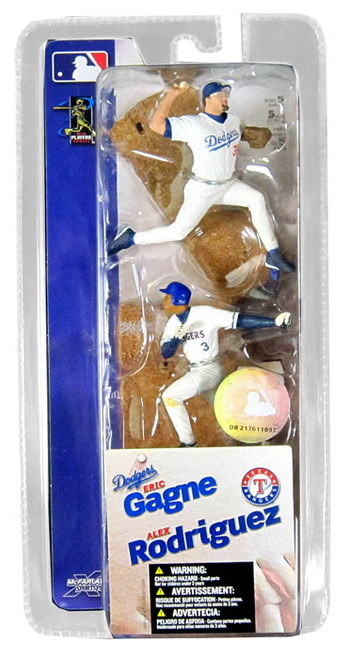 McFarlane Toys MLB Los Angeles Dodgers / Texas Rangers Sports Picks 3 Inch Mini Series 1 Eric Gagne & Alex Rodriguez Mini Figure 2-Pack