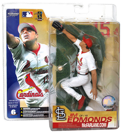 McFarlane Toys MLB St. Louis Cardinals Sports Picks Series 6 Jim Edmonds Action Figure [White Jersey]