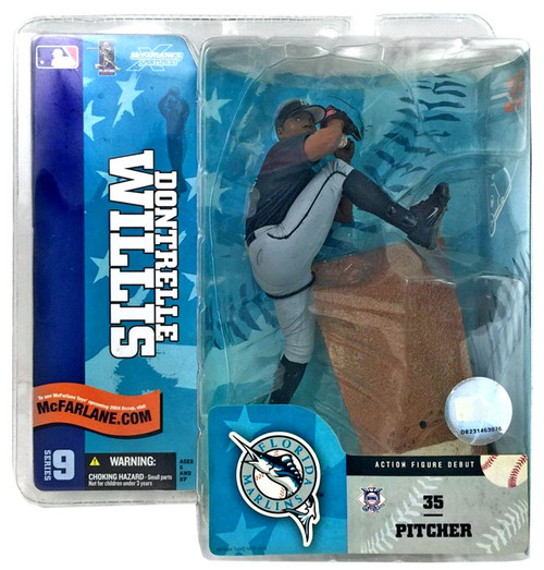 McFarlane Toys MLB Florida Marlins Sports Picks Series 9 Dontrelle Willis Action Figure [Black Jersey]