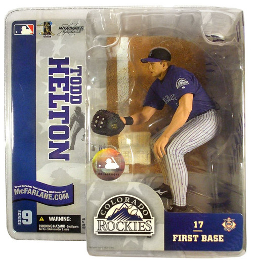 McFarlane Toys MLB Colorado Rockies Sports Picks Series 9 Todd Helton Action Figure [Purple Jersey White Pants]