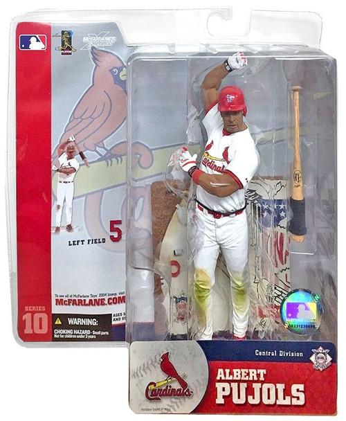 McFarlane Toys MLB St. Louis Cardinals Sports Picks Series 10 Albert Pujols Action Figure [White Jersey]