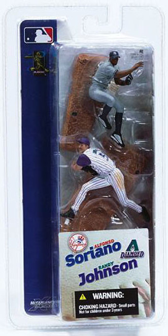 McFarlane Toys MLB New York Yankees / Arizona Diamondbacks Sports Picks 3 Inch Mini Series 1 Alfonso Soriano & Randy Johnson Mini Figure 2-Pack