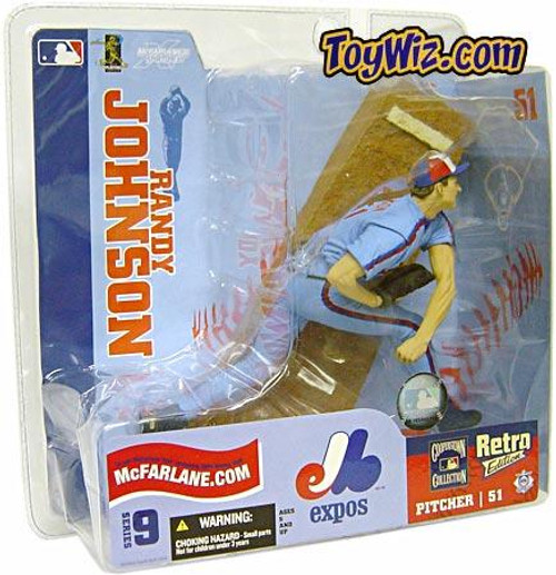 McFarlane Toys MLB Montreal Expos Sports Picks Series 9 Randy Johnson Action Figure [Blue Retro Jersey Variant]