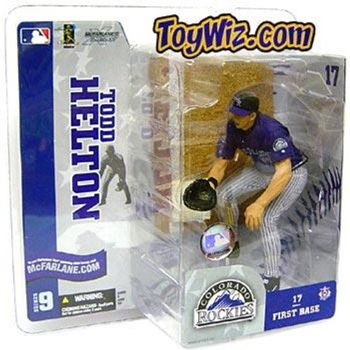 McFarlane Toys MLB Colorado Rockies Sports Picks Series 9 Todd Helton Action Figure [Purple Jersey Gray Pants Variant]