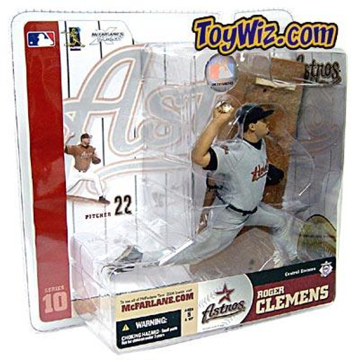 McFarlane Toys MLB Houston Astros Sports Picks Series 10 Roger Clemens Action Figure [Gray Jersey Variant]