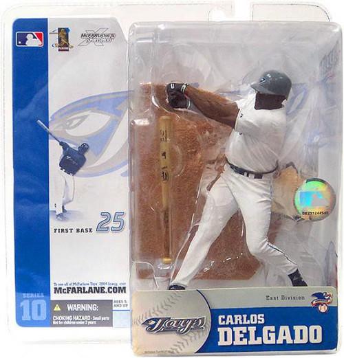 McFarlane Toys MLB Toronto Blue Jays Sports Picks Series 10 Carlos Delgado Action Figure [White Jersey Variant]