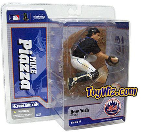 McFarlane Toys MLB New York Mets Sports Picks Series 11 Mike Piazza Action Figure [Black Jersey]