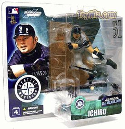McFarlane Toys MLB Seattle Mariners Sports Picks Series 4 Ichiro Suzuki Action Figure [Gray Jersey Variant]