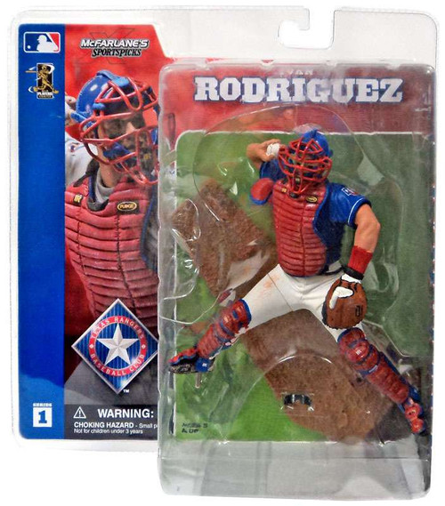 McFarlane Toys MLB Texas Rangers Sports Picks Series 1 Ivan Rodriguez Action Figure [Blue Jersey Variant]