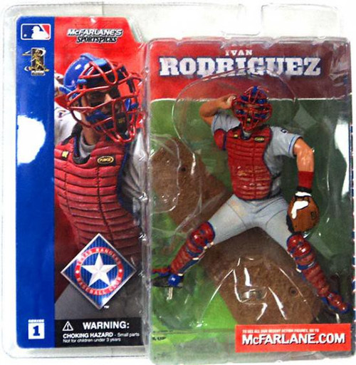 McFarlane Toys MLB Texas Rangers Sports Picks Series 1 Ivan Rodriguez Action Figure [Gray Jersey]