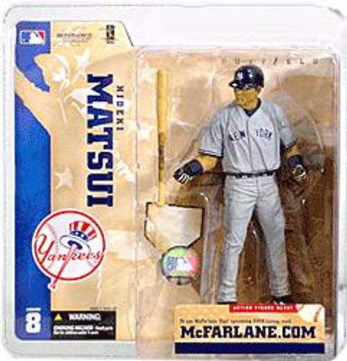McFarlane Toys MLB Sports Picks Series 8 Hideki Matsui (New York Yankees) Action Figure [Gray Jersey]