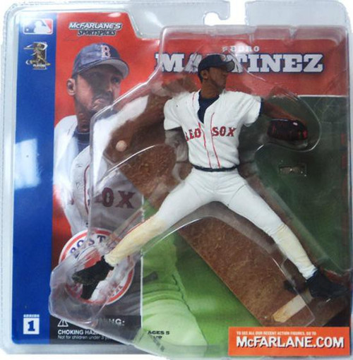 McFarlane Toys MLB Boston Red Sox Sports Picks Series 1 Pedro Martinez Action Figure [White Jersey]