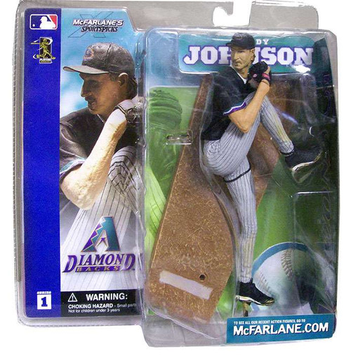 McFarlane Toys MLB Arizona Diamondbacks Sports Picks Series 1 Randy Johnson Action Figure [Black Jersey]