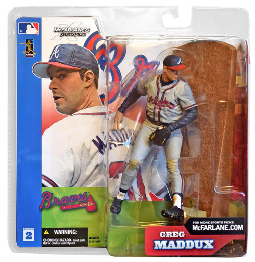 McFarlane Toys MLB Atlanta Braves Sports Picks Series 2 Greg Maddux Action Figure [Gray Jersey Variant]