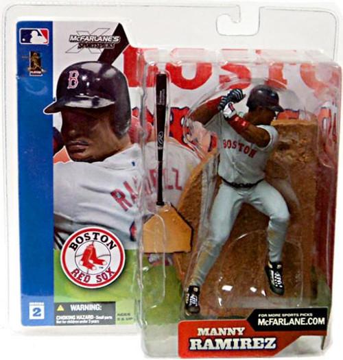 McFarlane Toys MLB Boston Red Sox Sports Picks Series 2 Manny Ramirez Action Figure [Gray Jersey]