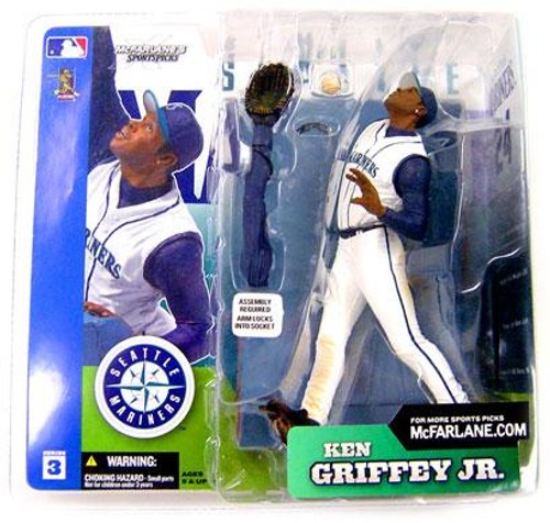 McFarlane Toys MLB Seattle Mariners Sports Picks Series 3 Ken Griffey Jr. Action Figure [White Retro Jersey Variant]