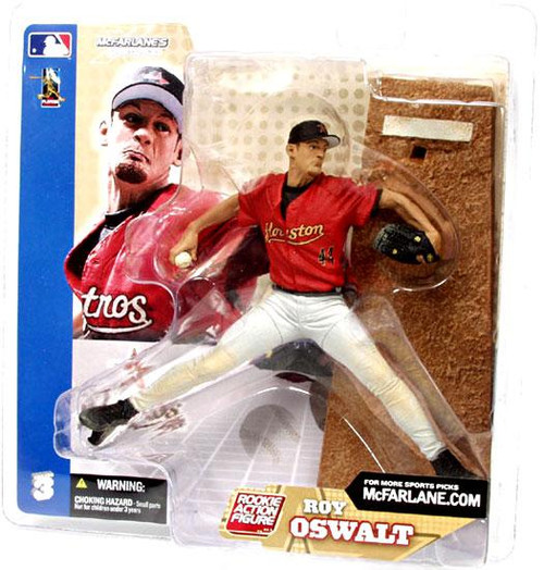 McFarlane Toys MLB Houston Astros Sports Picks Series 3 Roy Oswalt Action Figure [White Pants, Damaged Package]
