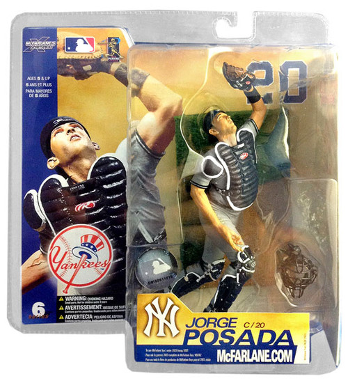 McFarlane Toys MLB New York Yankees Sports Picks Series 6 Jorge Posada Action Figure [Gray Jersey]