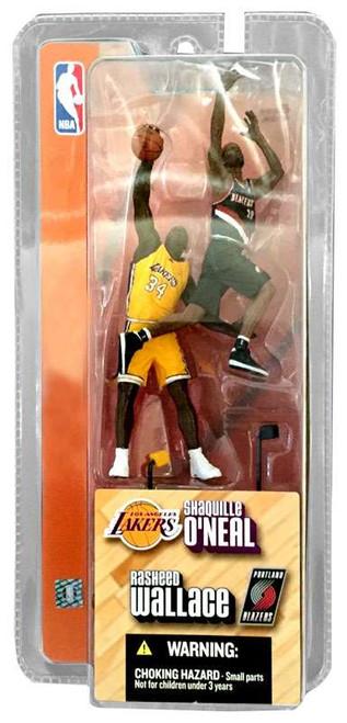 McFarlane Toys NBA Los Angeles Lakers / Portland Trailblazers Sports Picks 3 Inch Mini Series 1 Shaquille O'Neal & Rasheed Wallace Mini Figure 2-Pack
