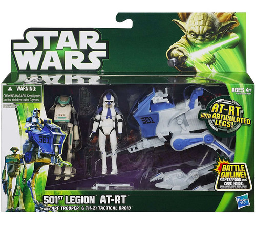 Star Wars The Clone Wars Vehicles & Action Figure Sets 2013 501st Legion AT-RT with ARF Trooper & TX-21 Tactical Droid Action Figure Set [Clone Wars]