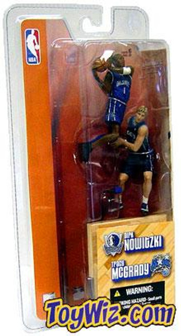 McFarlane Toys NBA Orlando Magic / Dallas Mavericks Sports Picks 3 Inch Mini Series 1 Tracy McGrady & Dirk Nowitzki Mini Figure 2-Pack