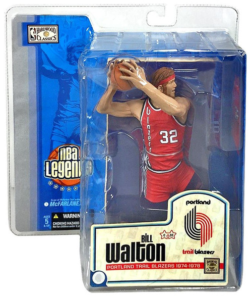 McFarlane Toys NBA Portland Trailblazers Sports Picks Legends Series 1 Bill Walton Action Figure [Red Jersey]