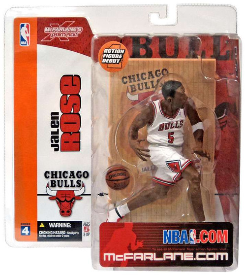McFarlane Toys NBA Chicago Bulls Sports Picks Series 4 Jalen Rose Action Figure [White Jersey Variant]