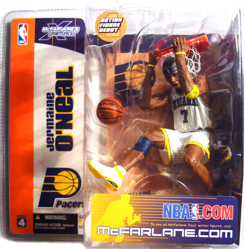 McFarlane Toys NBA Indiana Pacers Sports Picks Series 4 Jermaine O'Neal Action Figure [White Jersey Variant]